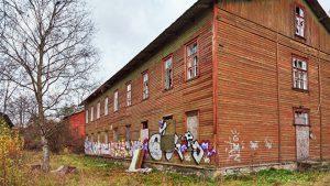 Заброшеные дома на улице Сепа, в районе Копли уже готовые декорации для фильма про зомби © SPUTNIK / ВАДИМ АНЦУПОВ
