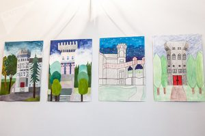 Замок в рисунках детей школы мызы Вазлемма © SPUTNIK / ВЛАДИМИР БАРСЕГЯН