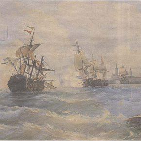 Ревельское морское сражение 2 (13) мая 1790 года. Картина А. Боголюбова.