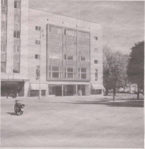 Здание Дома Искусств на площади Вабадузе - место проведения книжной выставки в 1939 году.