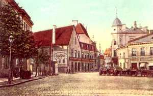 Вид с ул. Яама (Пярнуское шоссе) на ул. Суур-Карья. 1903 г.