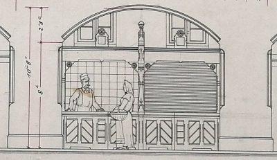 Интерьер торговых рядов. Проект Вильгельма фон Штрика.