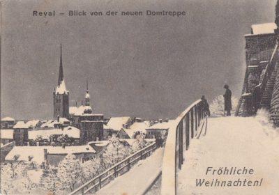 На старинных поздравительных открытках рождественско-новогодний Ревель завален снегом. На самом деле, бесснежные зимы случались в городе и сто лет тому назад.