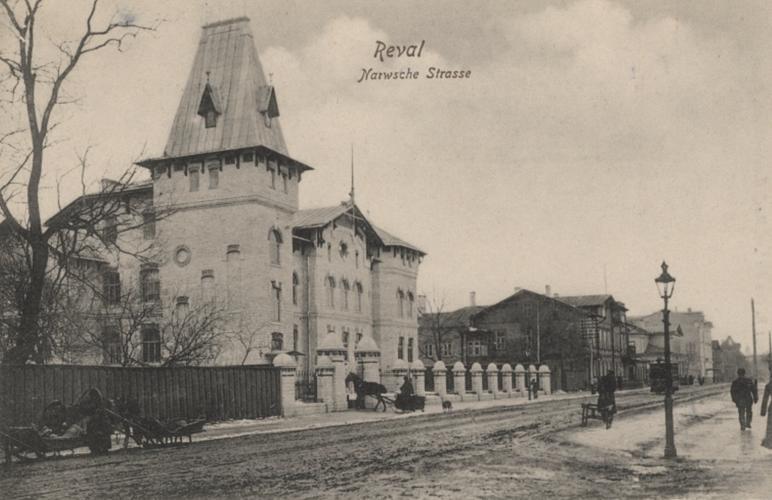 Здание нынешней Таллиннской музыкальной школы за минувший век не изменилось – чего нельзя сказать о его окрестностях.