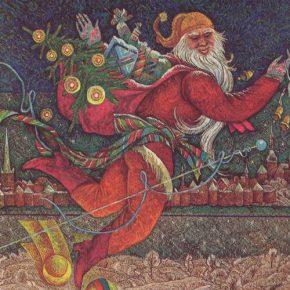 Таллиннский Дед Мороз переходного от «новогоднего» к «рождественскому» периоду своей биографии на открытке второй половины 80-х годов.