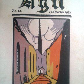 В первой половине ХХ века живописность Бёрси кяйк открыли для себя не только фотографы, но графики. Обложка литературно-художественного журнала Agu, 1923 год.
