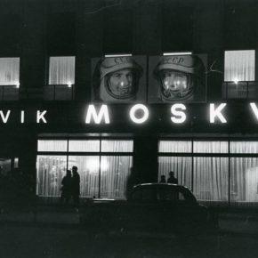 Портреты космонавтов на фасаде таллиннского кафе «Москва». Фото первой половины шестидесятых годов.