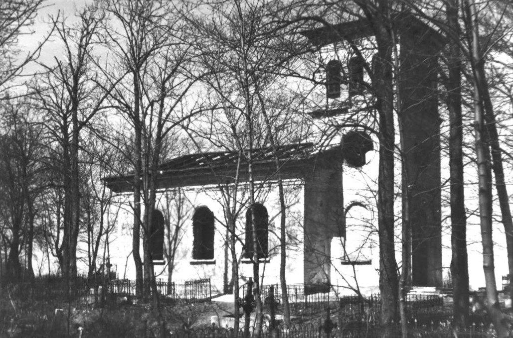 Капелла на Римско-католическом кладбище Таллинна накануне сноса в 1955 году.